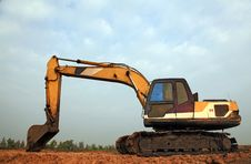 Free Excavator Loader With Backhoe Stock Photo - 17025180