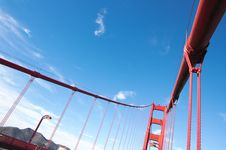 Free Fragment Of Golden Gate Bridge Stock Photos - 17025483