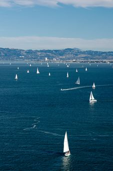 Yachts In Bay Royalty Free Stock Image