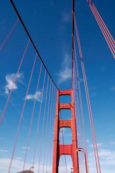 Free Fragment Of Golden Gate Bridge Royalty Free Stock Photography - 17025487