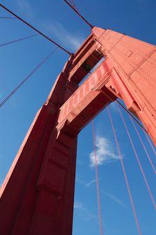 Free Fragment Of Golden Gate Bridge Stock Photography - 17025502