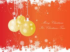 Free Christmas Vector Background Stock Photography - 17025862