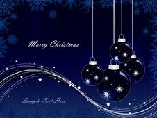 Free Christmas Vector Background Royalty Free Stock Image - 17025906