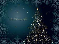 Free Christmas Tree Vector Stock Image - 17026201