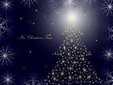 Free Christmas Tree Vector Royalty Free Stock Images - 17026239