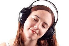 Free Girl Enjoying Her Music Royalty Free Stock Photos - 17026348