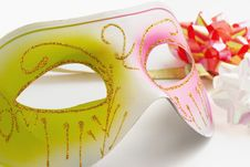 Free Carnival Mask On A White Background Royalty Free Stock Photography - 17026527