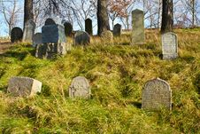 Forgotten Jewish Cemetery Stock Photography