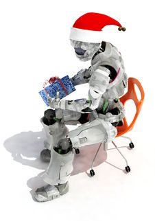 Free The Robot Royalty Free Stock Photos - 17026858