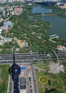 Aero View Of Beijing Royalty Free Stock Images