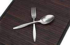 Free Silverware - Fork Royalty Free Stock Images - 17027119