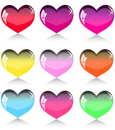 Free Set Of Hearts Stock Photos - 17027373