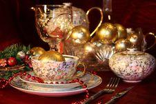 Free Christmas Table Set Stock Image - 17027811