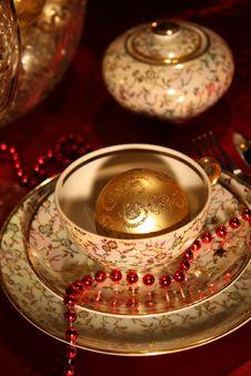Free Christmas Table Set Royalty Free Stock Image - 17027866
