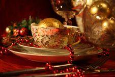 Free Christmas Table Set Stock Image - 17027921