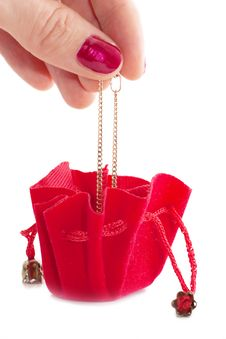 Free Little Red Bag Royalty Free Stock Photos - 17027958