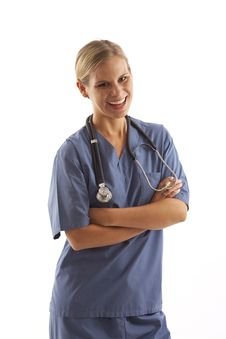 Free Young Female Nurse Stock Photo - 17028210