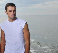 Free Young Man At Beach Royalty Free Stock Photo - 17028275