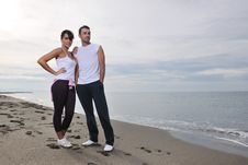 Free Happy Young Couple Have Fun At Beautiful Beach Stock Images - 17028354