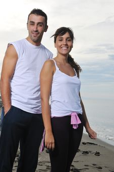 Free Happy Young Couple Have Fun At Beautiful Beach Royalty Free Stock Photography - 17028397