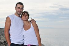 Free Happy Young Couple Have Fun At Beautiful Beach Royalty Free Stock Photography - 17028437