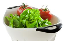 Lettuce And Tomatoes Stock Photos