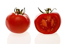 Fresh Organic Tomatoes. Stock Images