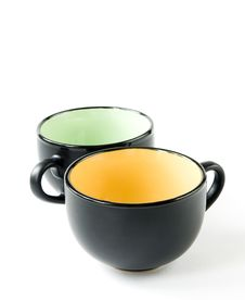 Free Two Black Cups Royalty Free Stock Photos - 17028988