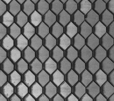 Hexagonal Grey Tiles Stock Images