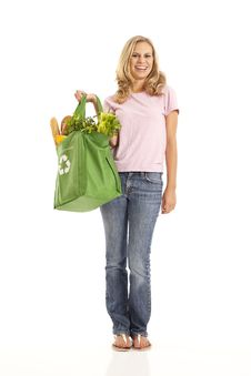 Free Young Woman With Groceries Stock Images - 17029074