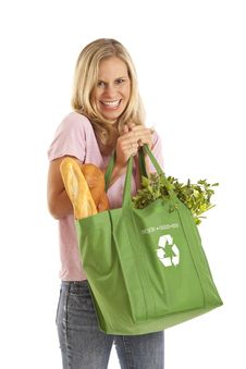 Free Young Woman With Groceries Royalty Free Stock Images - 17029129