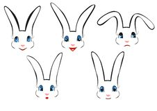 Rabbit Face Illustrations Royalty Free Stock Image