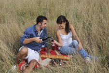 Free Happy Couple Enjoying Countryside Picnic Royalty Free Stock Photo - 17029195