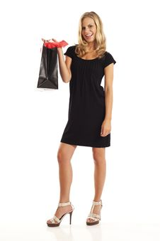 Free Young Woman With Shopping Bag Stock Photo - 17029630