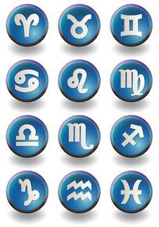 Free Zodiac Blue Stock Image - 17029931