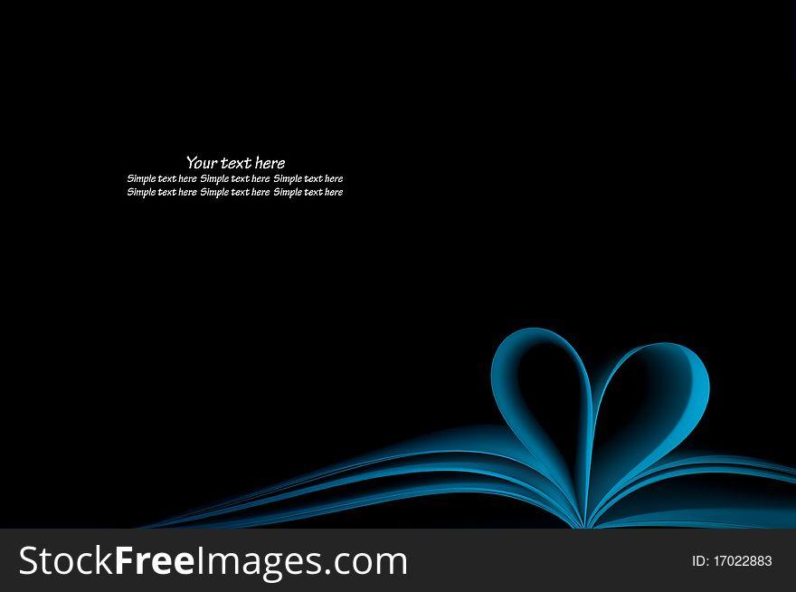 Blue Book And Shape Heart