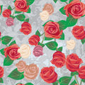 Free Seamless Rose Pattern Royalty Free Stock Image - 17037566