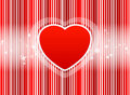 Free Vector Red Heart With Stripes Background Stock Photo - 17038600