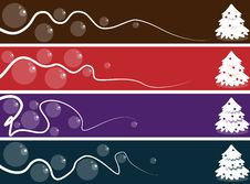 Free Abstract Christmas Banner Set Royalty Free Stock Images - 17030129
