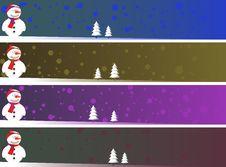 Christmas Banner Set Eps8 Stock Photos
