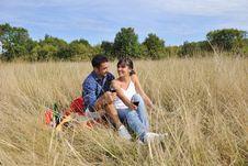 Free Happy Couple Enjoying Countryside Picnic Stock Photography - 17030172