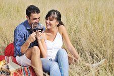 Free Happy Couple Enjoying Countryside Picnic Stock Image - 17030241