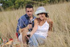 Free Happy Couple Enjoying Countryside Picnic Royalty Free Stock Image - 17030466