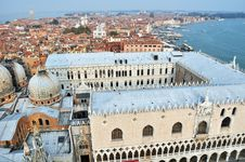 Panoramic View Of Venice Stock Photo
