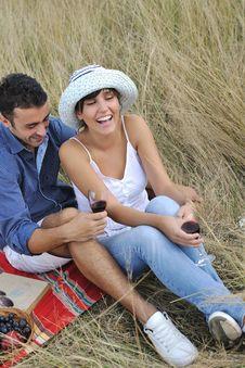 Free Happy Couple Enjoying Countryside Picnic Stock Photo - 17030610