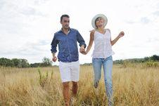 Free Happy Couple Enjoying Countryside Picnic Royalty Free Stock Image - 17030726