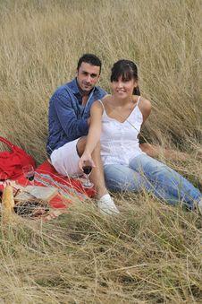 Free Happy Couple Enjoying Countryside Picnic Royalty Free Stock Photos - 17030748