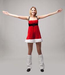 Free Christmas Girl Stock Photography - 17030772