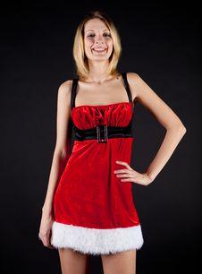 Free Smile Christmas Girl Stock Photography - 17030792