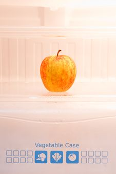 Free Apple In Refrigerator Stock Images - 17031374